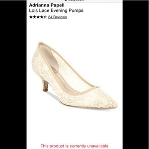 New Adrianna Papell Sz 6 Lois Lace pumps ivory